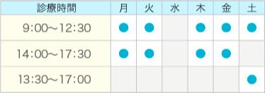 廣瀬歯科医院の診療時間表